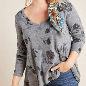 Anthropologie T.La Vicky thermal top SP